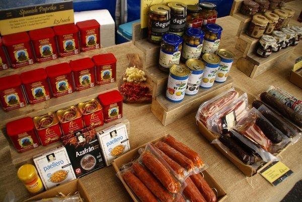 Steyning Farmers market - spanish produce