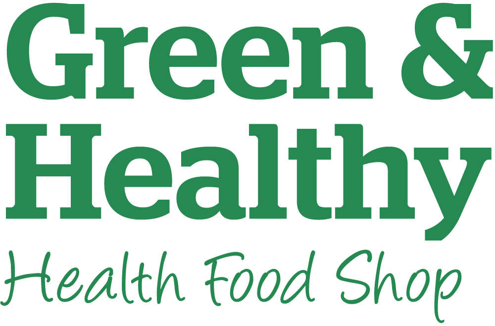 Green & Healthy health food shop logo