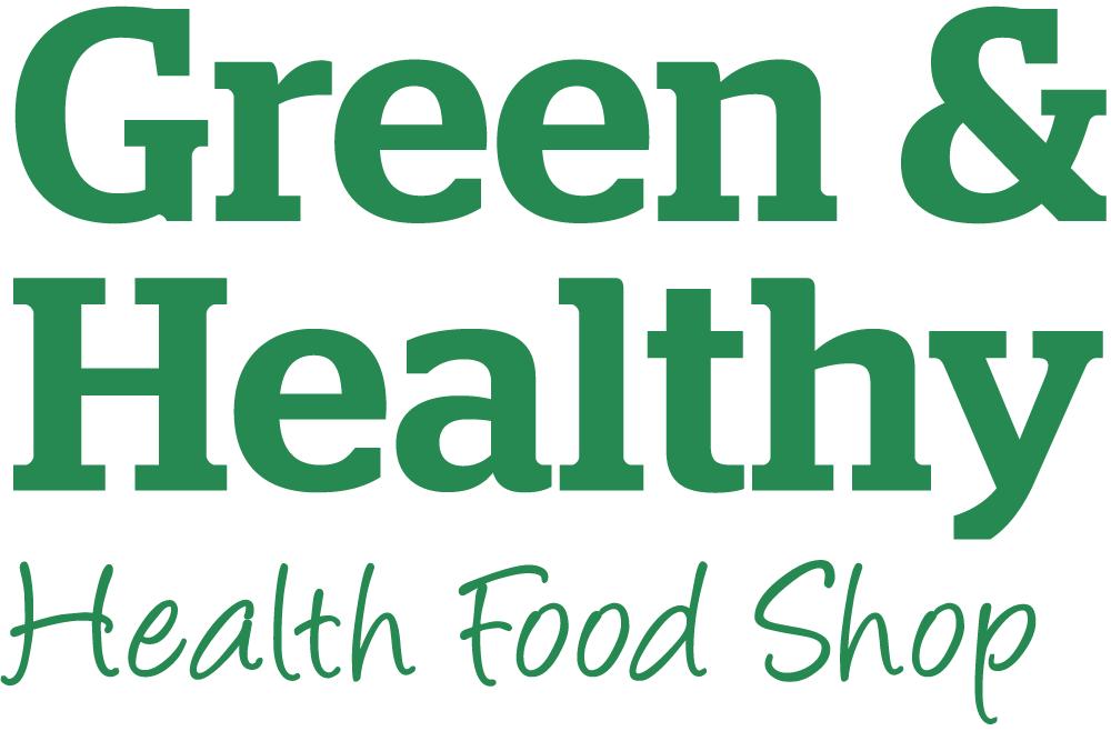 Green & Healthy health food shop logo