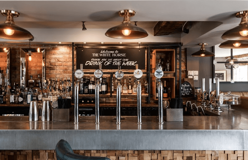 the white horse steyning inside at the bar
