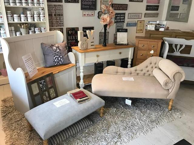 Vintage & Home - inside the shop in Steyning High Street